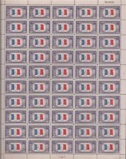 US Stamp - 1943 Overrun Country France 50 Stamp Sheet - Scott #915