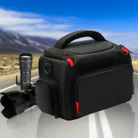Waterproof Digital Camera Shoulder Bag Case For Nikon Canon DSLR SLR +Rain Cover