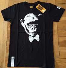 Men's BNWT black LIMITED EDITION DRUNKNMUNKY 'Munky Suit' s/slv T, Small