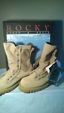NWT ROCKY 790G ARMY COMBAT BOOTS, DESERT TAN, GORE-TEX, MENS SIZE 4.5 W