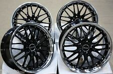 "18"" CRUIZE 190 BLACK POLISHED LIP DEEP DISH STYLE 5X120 18 INCH ALLOY WHEELS"