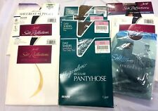 10 Packages Various Panty Hose Nylons Collection Brands Sizes Colors Styles