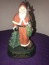 1903 Russia Grandeur Noel Christmas Santa Hand Painted Vintage Statue