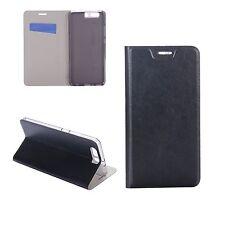 Custodia Cover Flip Case Leather similpelle Nero per Huawei P10 Plus