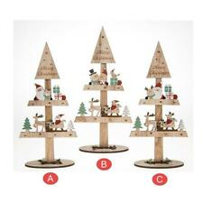 Festive Craft Wooden Christmas Tree Santa & Friends Each Sold Individually