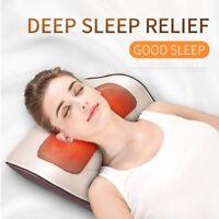 Pillow Massage Back Neck Massager Shiatsu Shoulder Heat Kneading Deep Relax Pain