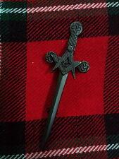 """TC Masonic Kilt Pin Jet Black Finish 4""""/Scottish Highland Kilt Pin Masonic Black"""
