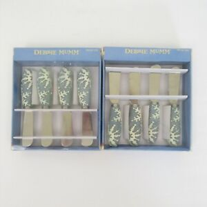 Debbie Mumm set of 8 spreaders Christmas snowflake cheese butter holiday party