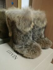 Coyote Fur Boots for Women, Wild Style Boots, Furry Boots, Winter Boots