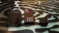 Texas Instruments TI SR 40 Vintage Calculator for parts / repair with AC adapter