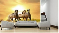 Mural wall sticker - HORSE III - 12 pi x 8 pi custom vinyl DECO DECOR ADHESIF