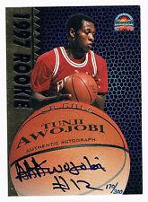 Tunji Awojobi 1997 Score Board Basketball Rookies RC Signed Autographed Card