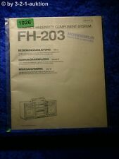 Sony Bedienungsanleitung FH 203 Component System  (#1026)