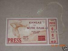 Notre Dame vs. Kansas Ticket 9-28-1935