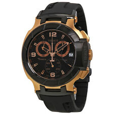 Tissot T-Race Chronograph Rose Gold-tone Black Rubber Mens Watch T0484172705706
