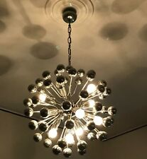 CHANDELIER SPUTNIK 1970. REGGIANI DESIGN. CHROME.  8 LIGHTS.