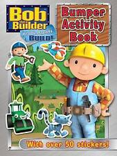 NEW - BOB THE BUILDER - BUMPER ACTIVITY book 50 STICKERS colouring maze counting