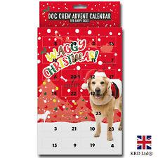 DOG ADVENT CALENDAR Pet Puppy Christmas Festive Food Chew Treats Snack G2426 UK