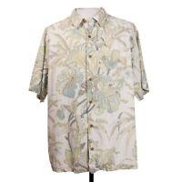 Tommy Bahama Mens XL Floral Beach Camp Hawaiian Shirt