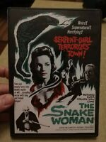 The Snake Woman (1961 movie, 2017 DVD) 68 min B&W - not rated, LIKE NEW