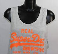 Superdry Vintage Low Arm Vest GS6GA460 54G Ice Marl Grau +Neu+ Größe S & M