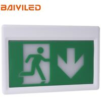 Standard Emergency LED Exit Sign Light, Ceiling Mounting, Running Man and Arrow
