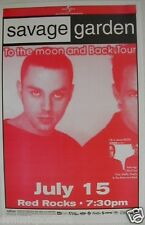 "SAVAGE GARDEN 1998 ""TO MOON & BACK TOUR"" CONCERT POSTER - Australian Pop Music"