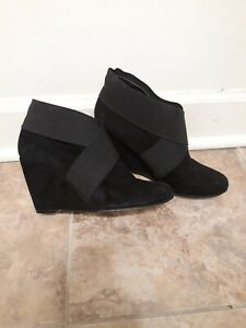 BCBG Black Suede Booties