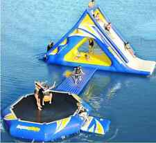 Commercial Inflatable Floating Water Park 15' Water Slide & Trampoline Bounce