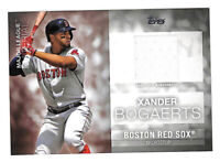2020 Topps Xander Bogaerts Major League Material jersey relic card Red Sox