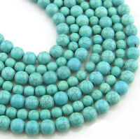 Lots Natural Turquoise Gemstone Spacer Loose Beads Jewelry Findings 4/6/8/10MM