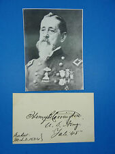 EXTREMELY RARE SIGNATURE OF GEN. HENRY B. CARRINGTON AUTOGRAPH PAPER