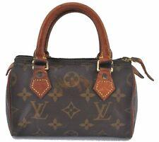 Authentic Louis Vuitton Monogram Mini Speedy Hand Bag M41534 LV C3585