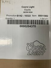 """New! Coors Light Neon Sign Beer Bar Real Neon Glass Light - 46""""x35""""x13"""" ; Boxings"""