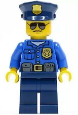 LEGO Minifigure Police City Officer Gold Badge Blue Police Hat, Sunglasses