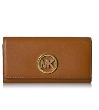Michael Kors Fulton Carryall Women's Brown Leather Wallet Purse 32F2GFTE3L