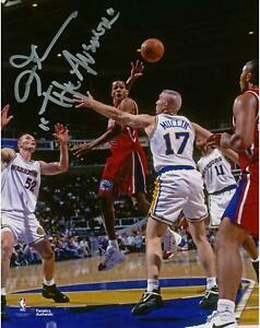 Allen Iverson Philadelphia 76ers Signed 8x10 Passing Photo w/ The Answer Insc
