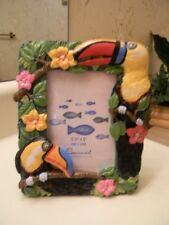 """TROPICAL TUCAN Picture Photo Frame Parrot Bird 6""""x 5"""" NEW for 3.5"""" x  5"""" PICTURE"""