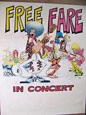 """MAD MAGAZINE POSTER 29"""" x 23""""  RARE  FREE FARE  DON MARTIN ORIGINAL ART 1970s"""