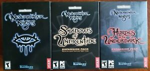 Neverwinter Nights (PC, 2002) complete expansions bundle New sealed