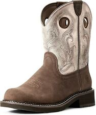 Ariat 244041 Womens Fatbaby Western Boots Brown Barley/Rose Gold Size 8.5 B