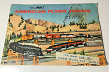 Original 1957 American Flyer Catalog , 48 page full color, Vg - Very Detailed!