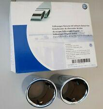 VW Tiguan original Chrom Auspuffblenden Endrohre Auspuff Blenden Endrohrblenden