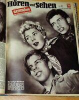 Bayern Funk 1952 komplett Radio Hören Sehen Zeitschrift Promi 1950er Mode Retro
