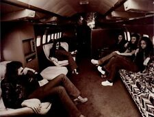Deep Purple Blackmore Jon Lord flying in Starship 1 US Tour 1974 Magazine Photo