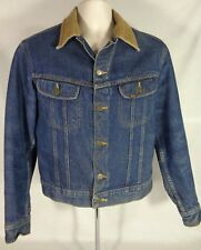 LEE Vintage Men's Trucker Work Denim Jacket Blanket Lined Warm Coat 36 R - Small