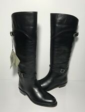 FRYE Dorado Riding Classic Soft Leather Black Knee High Pull On Boots Size 5.5 B