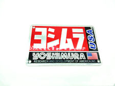 2x Yoshimura Sticker Aluminium Heat-resistant Motorcycle Exhaust Pipe USA Decal
