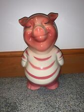"""Royal Copely Smiley Pig Bank 7 3/4"""" Height"""
