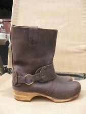 SANITA WOMEN'S CLOG BOOTS BROWN LEATHER MOHAWK sz7